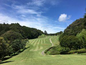 快晴のゴルフ場
