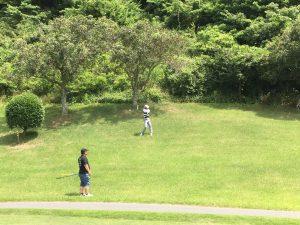 知り合いとのゴルフ